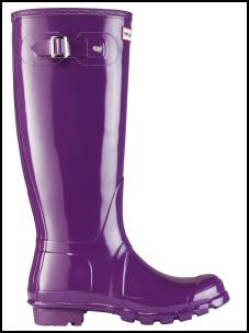 Hunter Original Purple Welling Glossy Boot in Blackberry.