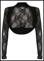 Black Lace Effect Shrug.