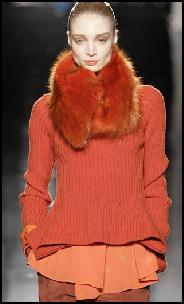 Sportmax Catwalk Orange Knitwear.