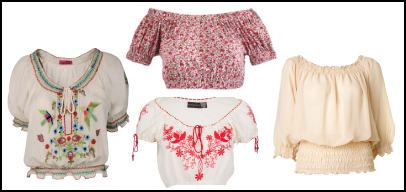 Peasant Blouses - Gipsy Chic.