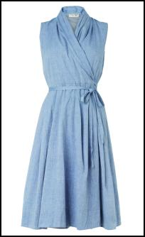 Phase Eight Lavender Chambray Wrap Dress.