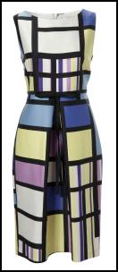 El�gance Mondrian Colour Block A-Line Shift Dress �159.