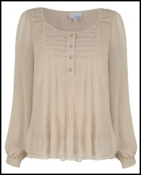 Finely Pleated Blouse - Summer 2011.