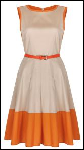Orange Colour Block Dress Trend 2011.