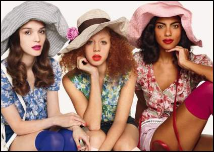 Benetton Floral Fashions Trends Summer Campaign 2011.