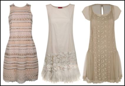 Feathers, Texture and Emboridery in Fashion Dresses - Monsoon.