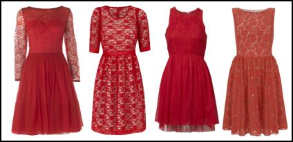 Coloured Lace Dresses - Red Lace Trend.