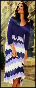 Blue Zig Zag Knit Dress - Missoni Style.