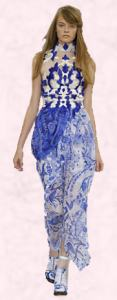Blue Chinoiserie Designer Fashion.