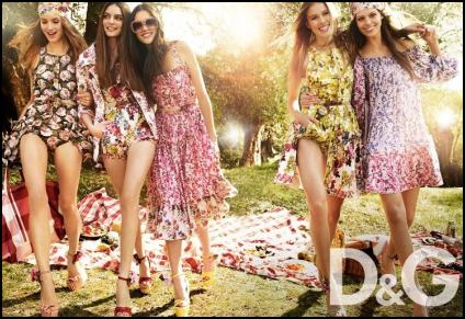 D&G Floral Fashions Trends Summer Campaign 2011.
