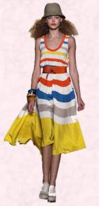 Caatwalk Bright Stripe Dress.