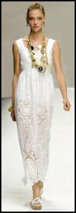 Summer White Dresses With Cutwork Lace Insert Trims