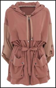 Cocoa Pink Coloured Parka Coat.