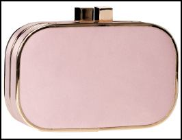 Monsoon Accessorize Nude Pink Clutch Bag.