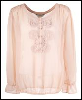 Nude Pink Long Sleeve Blouse.