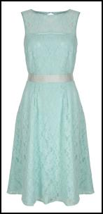 Aquamarine - Mint Lace Prom Dress.
