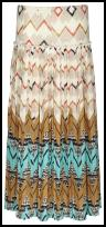 River Island Abstract Tribal Print Zig Zag Skirt.