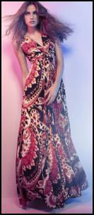 Tribal Colour Mix Paisley Maxi Dress.
