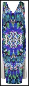 Monsoon Optical Psychedelic Sleeveless V-neck Oceana Dress.