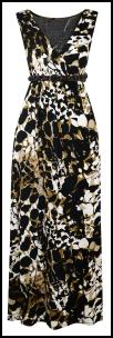 Plus Size Tribal Animal Print Maxi Dress.