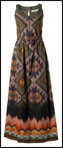 Brooke Rising Blaze Woven Maxi - Tribal Earthy Ikat Pattern.Fat Face.