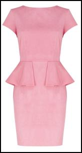 Marks & Spencer Pink Peplum Dress.
