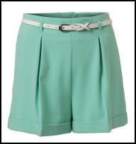 Mint Green Shorts.