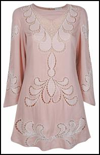 Miss Selfridge SS12 - Pastel Pink Cutwork Dress.