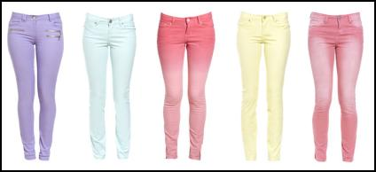 Pastel Coloured Jeans From New Look SS2012.