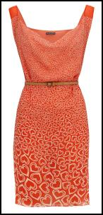 Orange Sweetheart Dress.