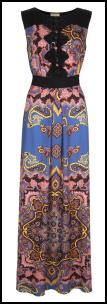 Monsoon Toshka Maxi Scarf Print Dress.