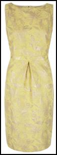 Monsoon Lemon Brocade Cambridge Dress.