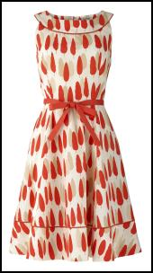 Orange Print Orla Keily Prom Dress.