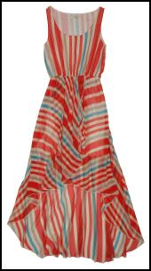 Women's Stripe Drop Hem Maxi Dress.