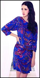 Viyella Ocean Paisley Short Dress.