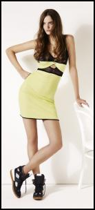 Hartley Neon Lemon Aertex Dress.