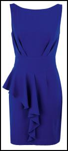 Structured New Half Peplum Blue Dress.