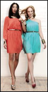 Turquoise Dress & Orange Tangerine Dress.