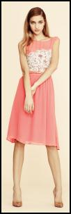 Pink Embellished Bodice Dress.