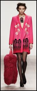 Holly Fulton Pink Coat.