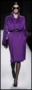 Alberta Ferretti Purple Wrap Coat.