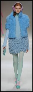 Colourful fur from Blugirl catwalk fashion.
