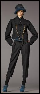 Dolce & Gabbana Narrow Slim Cropped Pants & Jacket.