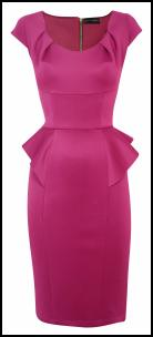 Wallis Satin Peplum Dress.