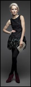 Dunnes Stores Feather Skirt Dress.