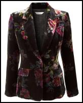 Flower Printed Velvet Jacket by East.