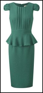 Fever Green Peplum Dress.