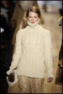 Michael Kors Aran Cream Cable Knit Jumper Tunic.