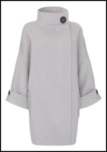 Oversized Volume Cowl Collar Coat By Mint Velvet.