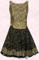Gold Black Prom Party Dress -  River Island